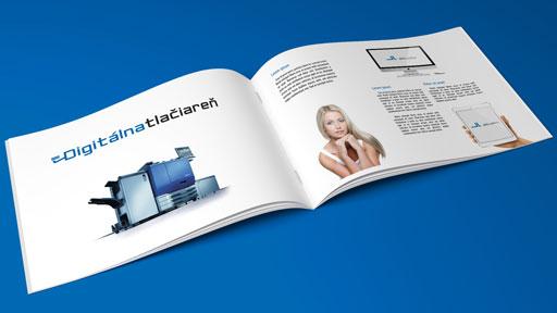 brožúra katalóg časopis na šírku