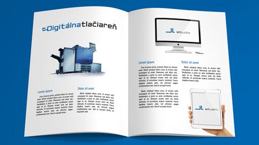 brožúra katalóg časopis na výšku