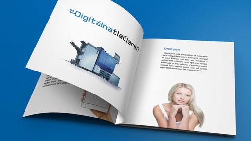 štvorcová brožúra katalóg časopis