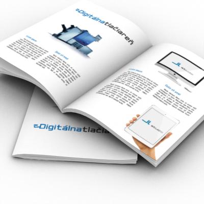 digitálna tlačiareň - tlač brožúr