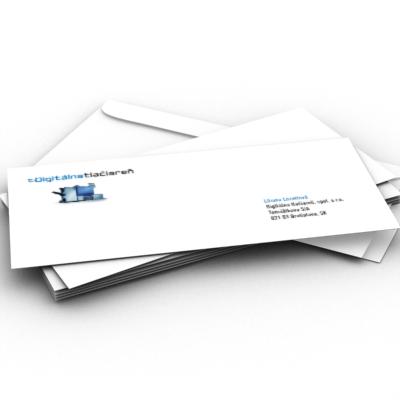 digitálna tlačiareň - tlač obálok