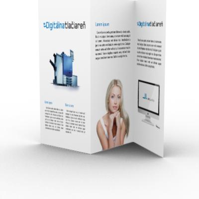digitálna tlačiareň - tlač skladačiek